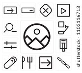 set of 13 icons such as gallery ...