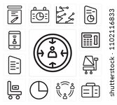 set of 13 icons such as manager ...
