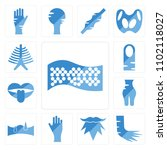 set of 13 icons such as... | Shutterstock .eps vector #1102118027