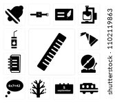 set of 13 icons such as rulers  ...