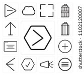 set of 13 icons such as next ...
