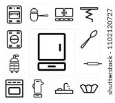 set of 13 icons such as cabinet ...