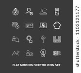 modern  simple vector icon set... | Shutterstock .eps vector #1102121177