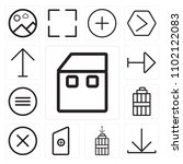 set of 13 icons such as home ...