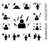 set of 13 icons such as nurse ...