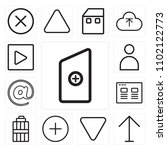 set of 13 icons such as new...