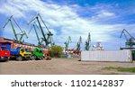 crane gdansk stock images.... | Shutterstock . vector #1102142837