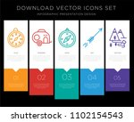 5 vector icons such as compass  ... | Shutterstock .eps vector #1102154543