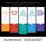 5 vector icons such as piggy... | Shutterstock .eps vector #1102163327