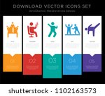5 vector icons such as business ... | Shutterstock .eps vector #1102163573