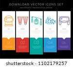 5 vector icons such as winter... | Shutterstock .eps vector #1102179257