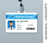doctor id card template....   Shutterstock .eps vector #1102216973
