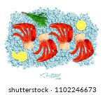 meat crab with rosemary and... | Shutterstock .eps vector #1102246673