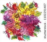 vintage vector floral... | Shutterstock .eps vector #1102251407