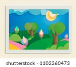 world environment day concept... | Shutterstock .eps vector #1102260473