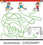 cartoon illustration of paths... | Shutterstock .eps vector #1102296497
