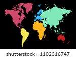 color world map vector | Shutterstock .eps vector #1102316747
