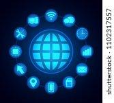 digital technology icons  ...   Shutterstock .eps vector #1102317557