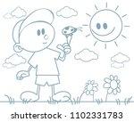 vector illustration of a boy... | Shutterstock .eps vector #1102331783