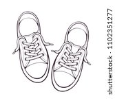 vector illustration. pair... | Shutterstock .eps vector #1102351277