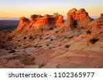 sunset at coyote buttes ... | Shutterstock . vector #1102365977