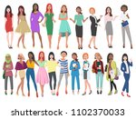 illustration of different women ... | Shutterstock . vector #1102370033