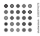 octagon geometric vector icon   ... | Shutterstock .eps vector #1102374173