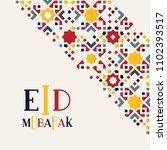 eid mubarak islamic greeting...   Shutterstock .eps vector #1102393517