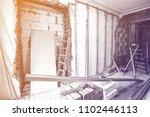 interior of room during of... | Shutterstock . vector #1102446113