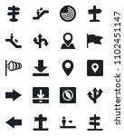 set of vector isolated black... | Shutterstock .eps vector #1102451147