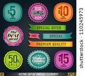 sale poster retro 70's 80's... | Shutterstock .eps vector #110245973