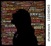 Concept of depression: text graphics - stock photo