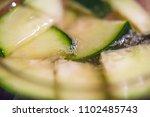macro close up cucumber water... | Shutterstock . vector #1102485743