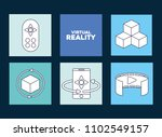 virtual reality design | Shutterstock .eps vector #1102549157