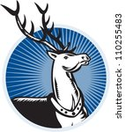 retro illustration of a stag... | Shutterstock .eps vector #110255483