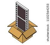 cardboard box movie film strip...   Shutterstock .eps vector #1102564253