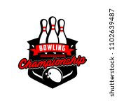 professional bowling club badge ... | Shutterstock .eps vector #1102639487