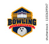 professional bowling club badge ... | Shutterstock .eps vector #1102639547