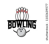 professional bowling club badge ... | Shutterstock .eps vector #1102639577