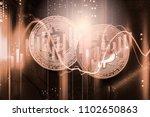 modern way of exchange. bitcoin ... | Shutterstock . vector #1102650863