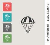 parachute   vector icon. symbol ... | Shutterstock .eps vector #1102682543