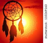 dream catcher  silhouette of a... | Shutterstock .eps vector #110269163