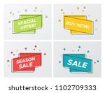 set of flat abstract sale... | Shutterstock .eps vector #1102709333