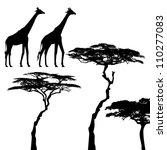 african animals  giraffe ... | Shutterstock .eps vector #110277083