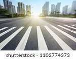 zebra crossing in the modern...   Shutterstock . vector #1102774373
