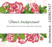 floral background. hand drawn... | Shutterstock .eps vector #1102817417