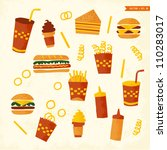 fast food | Shutterstock .eps vector #110283017
