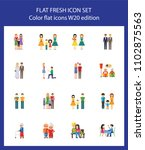 icon set of human relationships....   Shutterstock .eps vector #1102875563