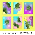 set of bright and trendy summer ... | Shutterstock .eps vector #1102878617