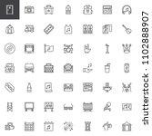 music festival outline icons... | Shutterstock .eps vector #1102888907